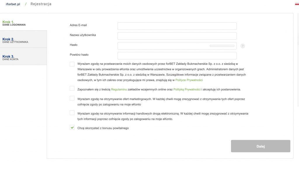 rejestracja forbet online